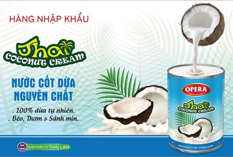 Nước Cốt Dừa Opera Vị Thơm Béo, Ngon Sánh Mịn Nhập Khẩu Thái Lan